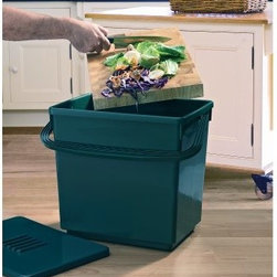 Garland Jumbo 8 Gallon Odor-Free Recycled Plastic Composter Caddy - The Garland Jumbo 8 Gallon Odor-Free Recycled Plastic Composter Caddy is designed for larger families caterers and anyone who has outgrown their smaller compost caddy. Because of this caddy's larger capacity you won't have to empty it into your composter as often. This durable container is made of 100% recycled plastic resin and features a secure lid and a large handle that makes carrying easier. The lid features an activated charcoal filter that neutralizes odors. That means you can keep the caddy right in your kitchen without causing a stench. The filter will provide odor protection for up to four months. About Tierra-Derco InternationalTierra-Derco International is a wholesale importer of distinctive high-quality hard goods for the garden. Tierra International merged with Derco Horticulture's US operations to form Tierra-Derco International LLC (TDI) in 2006. They had both been founded in 1998 with the same goal of supplying an exclusive selection of garden tools decorative accessories and hard goods. Derco is especially known in the U.S. for its quality line of garden center shopping carts and plastic trunk liners. Tierra brands include DeWit Peacock Gaspo Euroclogs and Eurogarden Kids. Tierra-Derco's central U.S. headquarters is located in Jasper Ind.