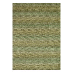 """Loloi Rugs - Loloi Rugs Frazier Collection - Herbal Garden, 3'-6"""" x 5'-6"""" - Hand-loomed in India of 100-percent wool, the new Frazier celebrates bold colors in an attractive multi-stripe design. A pile and loop construction adds textural dimension to this highly salable series."""