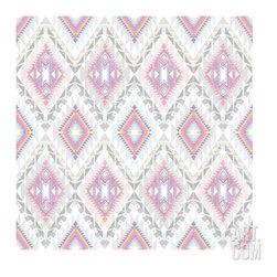 Abstract Geometric Seamless Aztec Pattern. Colorful Ikat Style Pattern -