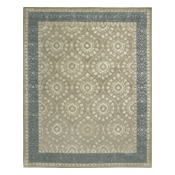 Nourison - Nourison Symphony Sym07 Taupe Area Rug - Sophisticated elegance and superior design define Nourison Symphony rugs. Featuring a luxurious blend of 40% wool and 60% viscose, these glorious rugs are handmade by expert artisans in India. With a vast selection of patterns and variety in color, these transitional rugs take the atmosphere of any room to a higher level. From subtle patterns to bold designs, these rugs easily infuse any room with elegance. Warm, classy, stylish, and beautiful, a Symphony rug spells perfection for virtually any room.