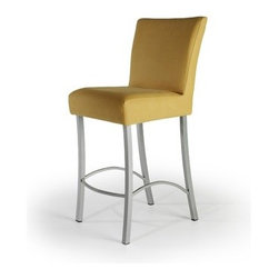 """Createch - Angle 24"""" Barstool - Features: -Counter height barstool. -Angle collection. -Heavy gauge steel construction. -Contemporary counter stool with upholstered seat. -Large choice of fabrics is available. -Ultra resistant construction with tick steel metal. -Nice choice of metal color. -Environment friendly production process, non - toxic paint and fabrics. -High temperature baked powder coating finish insure long - lasting. -Fire retardant high density foam. -Non swivel stool and very stable. -Good commercial product for bars and restaurants. Specifications: -UPS quick ship program 5 - 10 days. -High qulity made in North America. -Efficient welding joints warranty for five years. -Seat Height: 24"""". -Overall dimensions: 36"""" H x 20"""" W x 15"""" D."""