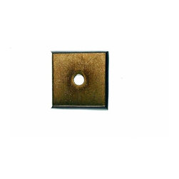 "Top Knobs - Aspen Square Backplate - Light Bronze (TKM1446) - Aspen Square Backplate 7/8"" - Light Bronze"