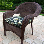 Oakland Living - Patio Arm Chair with Cushion - Resin Wicker ( - Color: CoffeeMade of Durable Resin Wicker and Steel Frame Construction. Easy to follow assembly instructions and product care information. Stainless steel or brass assembly hardware. Fade, chip and crack resistant. 1 year limited. Coffee Color for years of beauty. Pictured in Coffee. Some assembly required. 31 in. W x 27 in. L x 35 in. H (24 lbs.)Our all weather resin wicker arm chairs are the perfect edition to any setting. Adds beauty, style and functionality to your home, garden or back yard patio. Ideal for indoors or out.