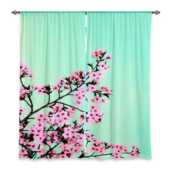 """DiaNoche Designs - Window Curtains Lined by Monika Strigel Green Honey - DiaNoche Designs works with artists from around the world to print their stunning works to many unique home decor items.  Purchasing window curtains just got easier and better! Create a designer look to any of your living spaces with our decorative and unique """"Lined Window Curtains."""" Perfect for the living room, dining room or bedroom, these artistic curtains are an easy and inexpensive way to add color and style when decorating your home.  This is a woven poly material that filters outside light and creates a privacy barrier.  Each package includes two easy-to-hang, 3 inch diameter pole-pocket curtain panels.  The width listed is the total measurement of the two panels.  Curtain rod sold separately. Easy care, machine wash cold, tumble dry low, iron low if needed.  Printed in the USA."""