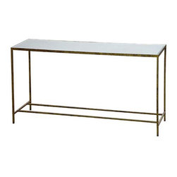 Jonathan Console - This gorgeous console table can sidle into just about any style room. Use it in the entryway, behind the sofa, or in the dining room as a console.