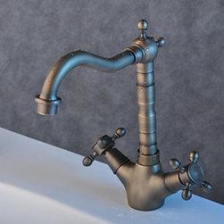 Kitchen Sink Faucets - Antique Inspired Brass Kitchen Faucet--FaucetSuperDeal.com