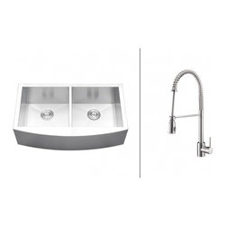 Ruvati - Ruvati RVC2466 Stainless Steel Kitchen Sink and Chrome Faucet Set - Ruvati sink and faucet combos are designed with you in mind. We have packaged one of our premium 16 gauge stainless steel sinks with one of our luxury faucets to give you the perfect combination of form and function.