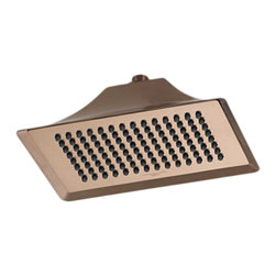 Brizo - Brizo RP48043BZ RSVP Brushed Bronze Ceiling Mount Showerhead - The Brizo RP48043BZ is a ceiling mount touchclean showerhead from Brizo's RSVP design suite with contemporary and minimalistic features and comes in a Brushed Bronze finish.