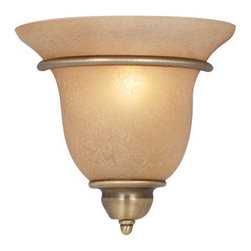 Vaxcel - Vaxcel WS35461A/C Monrovia Wall Sconce Antique Brass - Vaxcel WS35461A/C Monrovia Wall Sconce Antique Brass