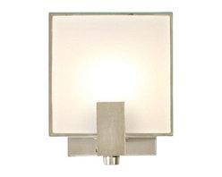 Edge Lighting - Mr. Square Wall Sconce - Mr. Square wall sconce features a white glass front diffuser and is available with a white back glass diffuser which casts a glow on the wall. Satin aluminum finish.