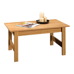 Sauder - Sauder Beginnings Coffee Table in Highland Oak - Sauder - Coffee Tables - 414292