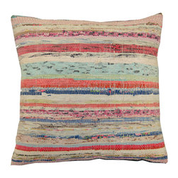 Rug & Relic - Turkish Kilim Rag-Rug Pillow - As seen in Better Homes & Gardens and Good Housekeeping!