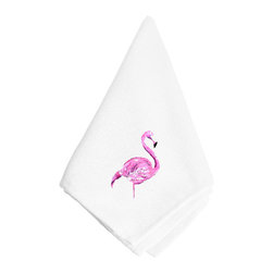 Caroline's Treasures - Pink Flamingo Napkin 8875NAP - Pink Flamingo Napkin 8875NAP Dinner Napkin - 100% polyester - wash, dry and lay flat.  No ironing needed.  20 inch by 20 inch
