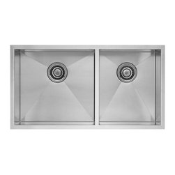 Blanco - BLANCO QUATRUS R0 Stainless Steel 1-3/4 Bowl Undermount Sink - BLANCO 518169 QUATRUS R0 Stainless Steel 1-3/4 bowl Undermount sink