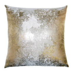Antiqued Metallic Pillow