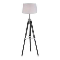 Lite Source - Lite Source LS-81678 Jiordano 1 Light Tripod Lamp - Features: