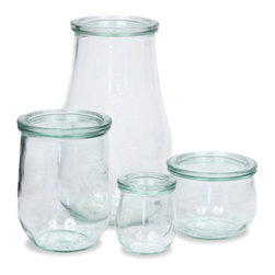 Tulip Jars - You probably have seen these Weck jars before. They are the latest craze in canning. They are also fantastic for storage. I specifically recommend the small jar for jellies and jams. I also find them perfect for parfaits. Make one the night before, and you have a healthy, handy snack at work.