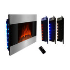 """AKDY - AKDY AG-Z510DLB Wall Mount Electric Fireplace, Log, 36"""" - GV's high performance wall mount electric stoves offer the instant ambiance of a traditional fireplace experience. Each of our wall mount electric fireplaces provide quiet, instant heat and eye-catching design. You will find electric stoves with both classic and traditional designs that will complement many decors. Our electric fireplaces are ideal for condominiums, lofts, apartments or single homes. Simply plug in and enjoy the warmth and realistic flame of your new fireplace anywhere in your home. The 3-D flame technology provides you with a realistic flame that can be enjoyed year round with or without heat. Our electric fireplace stoves plug into any standard outlet and move easily from one room to another."""