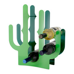 Cactus Wine Rack - Specially designed for those of with sore green thumbs, the Cactus wine rack cleverly uses its thorns to separate wine bottles.