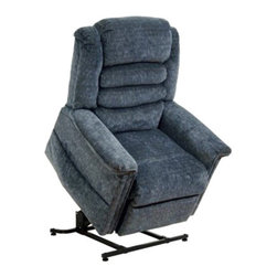 "Catnapper - Catnapper Soother Power Lift Full Lay-Out Chaise Recliner Chair in Galaxy - Catnapper - Recliners - 4825180043 - This Soother ""Power Lift"" Full Lay-Out Chaise Recliner by Catnapper combines great style, incredible comfort and functionality. This recliner features comfortable waterfall back and plush chaise seating. It is upholstered in luxurious chenille fabric available in autumn, vino, galaxy, and woodland. With its steel seat box it provides 350 Lb. weight capacity. Additionally, this power lift recliner features deluxe massage with heat and is provided with remote control and magazine pocket. Kick off your shoes and enjoy!"