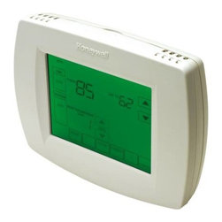 HONEYWELL - HONEYWELL UNIVERSAL PROGRAMMABLE T-STAT 2-STAGE HEAT/3-STAGE COOL - | Outdoor temperature indication (select models) shows current outdoor temperature on the display to help you plan outdoor activities | Large, Clear Display with Backlighting current temperature, set temperature and time are easy-to-read and all are displayed on the home screen | Menu Driven Programming Guides you through the scheduling process, showing only necessary information and choices on each screen | Ability to Select Multiple Days allows you to easily customize the thermostat for your unique schedule | Real-Time Clock keeps time during power failure; automatically updates for daylight savings | Armchair Programming allows you to remove thermostat from wall to set the schedule | Precise Temperature Control (+/- 1 F) reliable, consistent comfort | Multiple HOLD options allow you to modify schedule indefinitely or for a specific time | Change Reminders reminds you to service or replace the air filter, humidifier pad, ultraviolet lamp or thermostat batteries | Programmable Fan increases air quality when combined with a whole-house air cleaner | Up to 3 heat / 2 cool | The TH8320U Touchscreen Universal Programmable Thermostats provide electronic control of 24 Vac heating and cooling systems or 750 mV heating system.