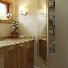 Now/Future House Ideas / I like the full length mirror medicine cabinet.