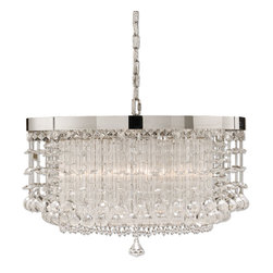 Uttermost - Fascination, Crystal Hanging Shade - The classic appeal of crystal is updated for today's sophisticated tastes. Chrome plated rim adorned by various styles of crystal accents.