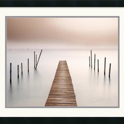 Amanti Art - Lake Walk I Framed Print by Jonathan Chritchley - Photographer Jonathan Chritchley uses the play of light and shadow in this fine art print 'Lake Walk I' to bestow a magical quality to this coastal setting.