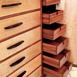 Handmade Dresser In Curly Maple & Bubinga - Louis Fry