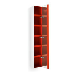 WS Bath Collections - Ciacole 8054.11 Cabinet Mirrored Door - Ciacole 8054.11 Cabinet with Mirrored Door in Red