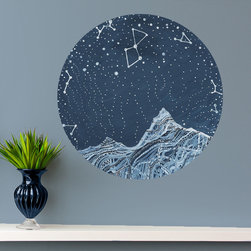 My Wonderful Walls - Lyra Constellation Wall Decal - Astronomy Art by Elise Mahan, Small - - Product:   astronomy inspired star wall sticker