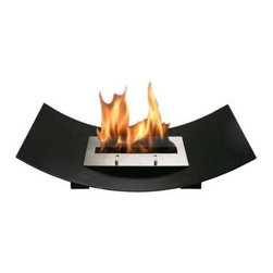 Bio-Blaze - Bio Blaze Veniz Fireplace - Includes long lighter, funnel and extinguisher. One bloc burner. Burns with bio ethanol. Window protection. Can be installed in ventilated living room, sitting room, dining room and veranda. Does not require flue and electricity. Does not release smoke. Heat resistant upto 400°C. Burner: 2 L - Adjustable flame. Autonomy: 6 - 8 hours. Consumption: 0.35 L/H. Heating capacity: 2.8 KW. 23.62 in. L x 5.12 in. W x 16.14 in. H (24.25 lbs.). Security and Assembly InstructionsBio-Blaze offers you a collection of innovative fireplaces. These fireplaces functions on bio ethanol. They do not require any installation, nor they release any smoke or smell. The design of the Bio Blaze fireplace is specifically created for your interior and exterior decoration. They were imagined to make your interior more cordial. In an apartment, in a house or a loft, these fireplaces are easy to attach to the wall or to place in open spaces, both for interior and exterior use. Burns exclusively with Bio-Blaze high quality bio ethanol. Release mainly H2O and very little of CO2, do not release any smoke. Please read assembly and manual instructions before using your fireplace. Do not place next to curtains or inflammable products. Do not move the fireplace while burning. Fireplace mounted on a wall should remain fixed to the wall. Do not touch burner with bare hands during and after combustion, wait until the bloc is not hot. All products and burners are patented, tested and verified by SGS and TUV.