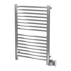 Amba - Amba   Sirio S-2942 Towel Warmer - Made in Italy by Amba.A part of the Sirio Collection. The simple to use design and unwavering quality of the Sirio S-2942 Towel Warmer upgrades modern bathrooms. This sleek and functional dual-purpose towel warmer also serves as an entire room heater in colder months. Made from premium stainless steel that proves to be both durable and resilient, this towel warmer will withstand the test of daily use. Select the ideal finish for your specific space. Product Features: