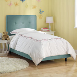 RR - Button Upholstered Bed - Button Bed in Multiple Fabrics