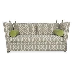 Upholstery - CR Laine 1210  Canterbury  Knole Sofa with Frett Pumice (sofa fabric) and Seth Pear (pillow fabric)
