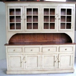Custom China Cabinet Hutch - Made by http://www.ecustomfinishes.com