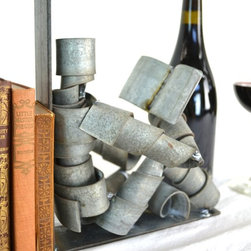 Wine Bot Reading Bookends - 100% Recycled Napa wine barrel rings -