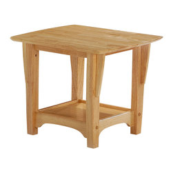 Night & Day Furniture - Night and Day Evening End Table - Natural - The Premium Collection is part of Night and Day's Premium Frame Line, featuring solid plantation grown Rubberwood and rich hand rubbed finishes. This furniture is ideal for anyone looking for Quick and Easy assembly and classic style. All of the furniture looks great from any angle and comes with a ten year manufacturer warranty.