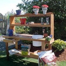 Master Gardner's Cedar Potting Bench -