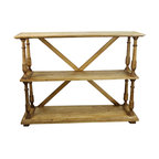 Pine Solid Wood Bookshelf - Rustic Pine Solid Wood Bookshelf is perfect when matched with Rustic Mexican Office Furniture in traditional Hacienda Style settings. Rustic Office Furniture is what Tres Amgios does well. Small space - big value.  Perfect for a student in a dorm. Versatile enough for rustic store displays. And perfect in your Southwestern Styled Design home.