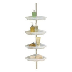 Better Sleep - Better Sleep Atlas 4-Shelf Tension Pole Corner Shower Caddy - Organize your bath items and tidy up your tub and shower area with this 4-tier aluminum shower caddy. Tension pole design allows for easy installation and four convenient shelves let you store and keep bath essentials within easy reach.