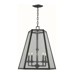 World Imports - Bedford 5 Light Glass Pendant in Oil Rubbed B - Manufacturer SKU: WI 613588. Bulbs not included. Seedy glass. Oil Rubbed Bronze Finished frame. Use in foyer or as pendant lights. Bedford Collection. 5 Lights. Power: 60W. Type of bulb: Candelabra. Oil Rubbed Bronze finish. 10 ft. Chain & 12 ft. Wire. Canopy 5.125 in.D. 26 in. W x 25 in. H (28 lbs.)
