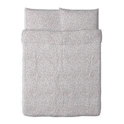 IKEA of Sweden - ALVINE TRÅD Duvet cover and pillowcase(s) - Duvet cover and pillowcase(s), white/red