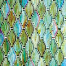 Contemporary Mosaic Tile Hirsche Silhouette mosaic glass tile