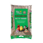 Wild Delight - Nut N' Berry 20 lbs + Freight - A premium wild bird food blended to attract and feed the most desirable outdoor pets. Songbirds, Woodpeckers, Cardinals, Finches, Titmice, Jays, Grosbeaks, Buntings, Nuthatches, Chickadees and other outdoor pets will eat the Nut N' Berry seed.