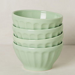 Latte Bowls, Mint Julep, Set of 4 - These latte bowls from Anthropologie are lovely. I can see myself sitting poolside or on a deck drinking a latte or eating a helping of fresh strawberries and cream.
