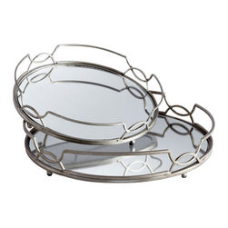Cyan Design - Lady Anne Trays - Lady anne trays - stainless steel