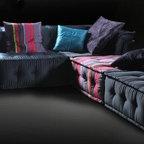 VIG Chloe Multi-Colored Modular Sectional Sofa LS103 - Soft cushioning provides maximum comfort for sitting or lounging.