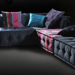 VIG Chloe Multi-Colored Modular Sectional Sofa LS103 - Soft cushioning provides maximum comfort for sitting or lounging.