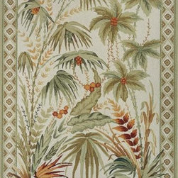 """Momeni - Momeni Spencer SP-10 3'6"""" x 5'6"""" Sage Rug - Spencer is a casual collection of hand-hooked rugs featuring soft floral, country, and contemporary designs. Made in China of 100% wool."""